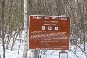 Sabattus Mtn sign