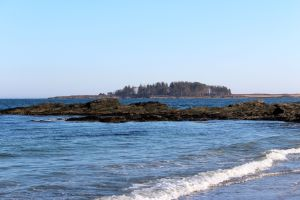 island and rocks