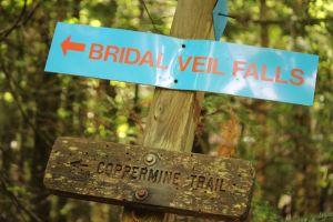 bridal veil sign