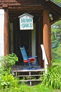 Hewn Oaks porch