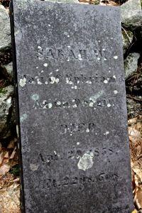 Sarah's stone