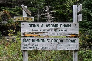 Mabou trail signs