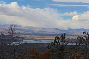 summit view, Kezar Pond:snow