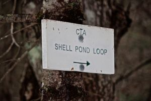 Shell pond loop sign