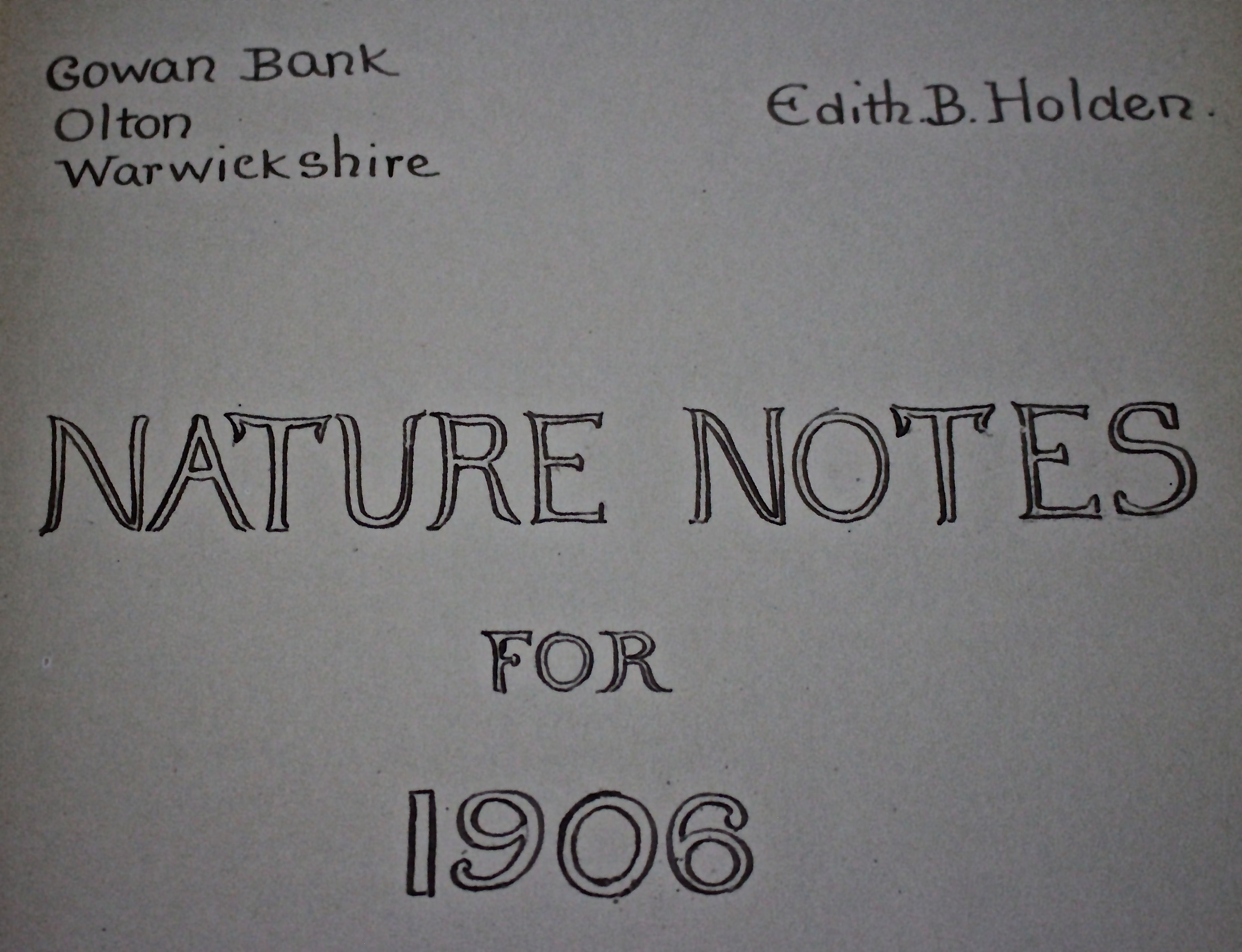 D-nature notes 1906