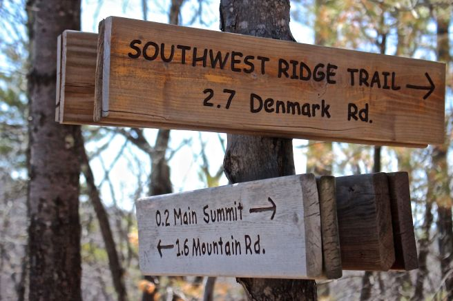 s-trail sign