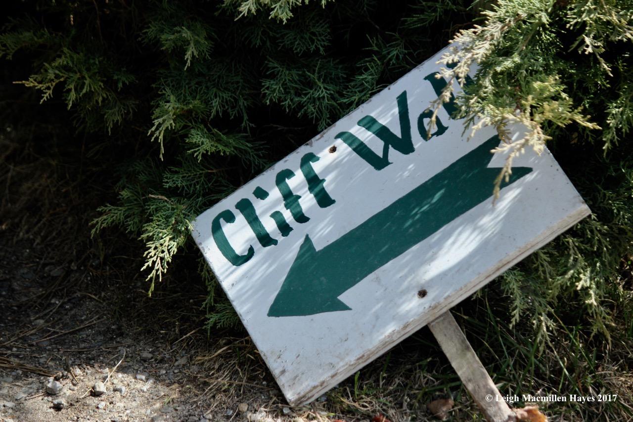 p-cliff walk sign