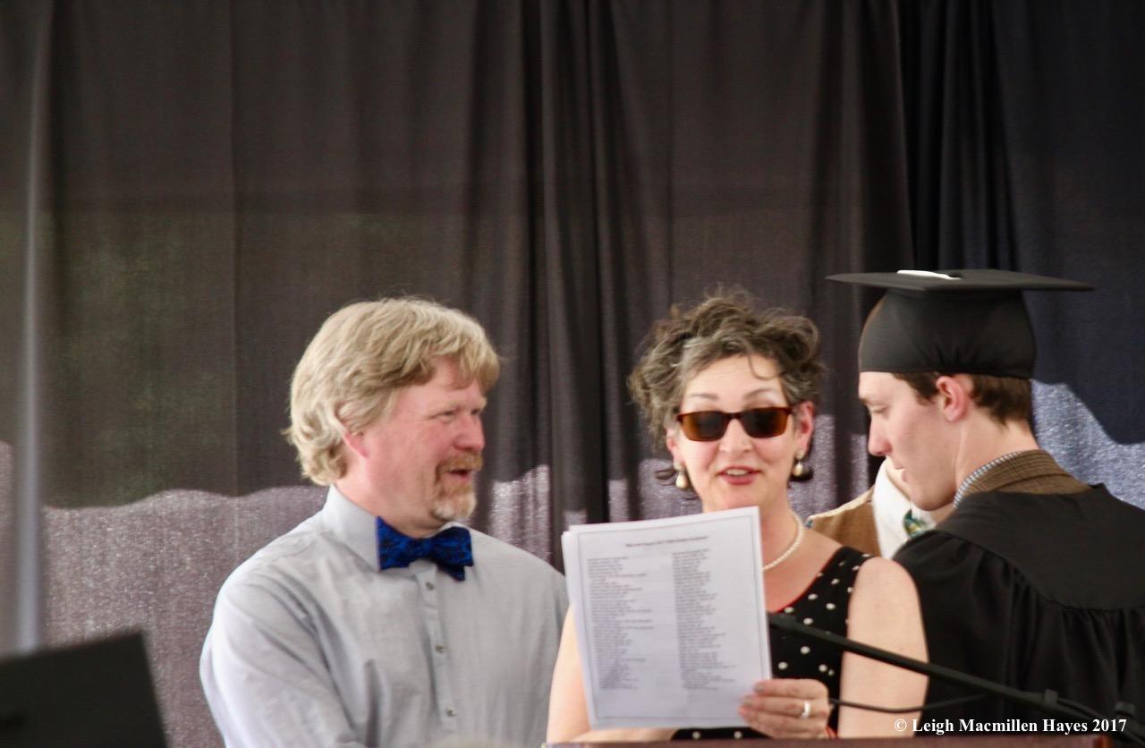 c-receiving his diploma