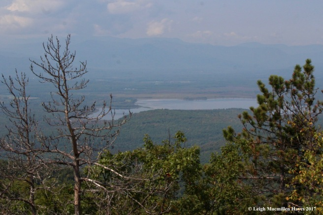 l20-view from main summit, Kezar Pond, Mt Wash in clouds