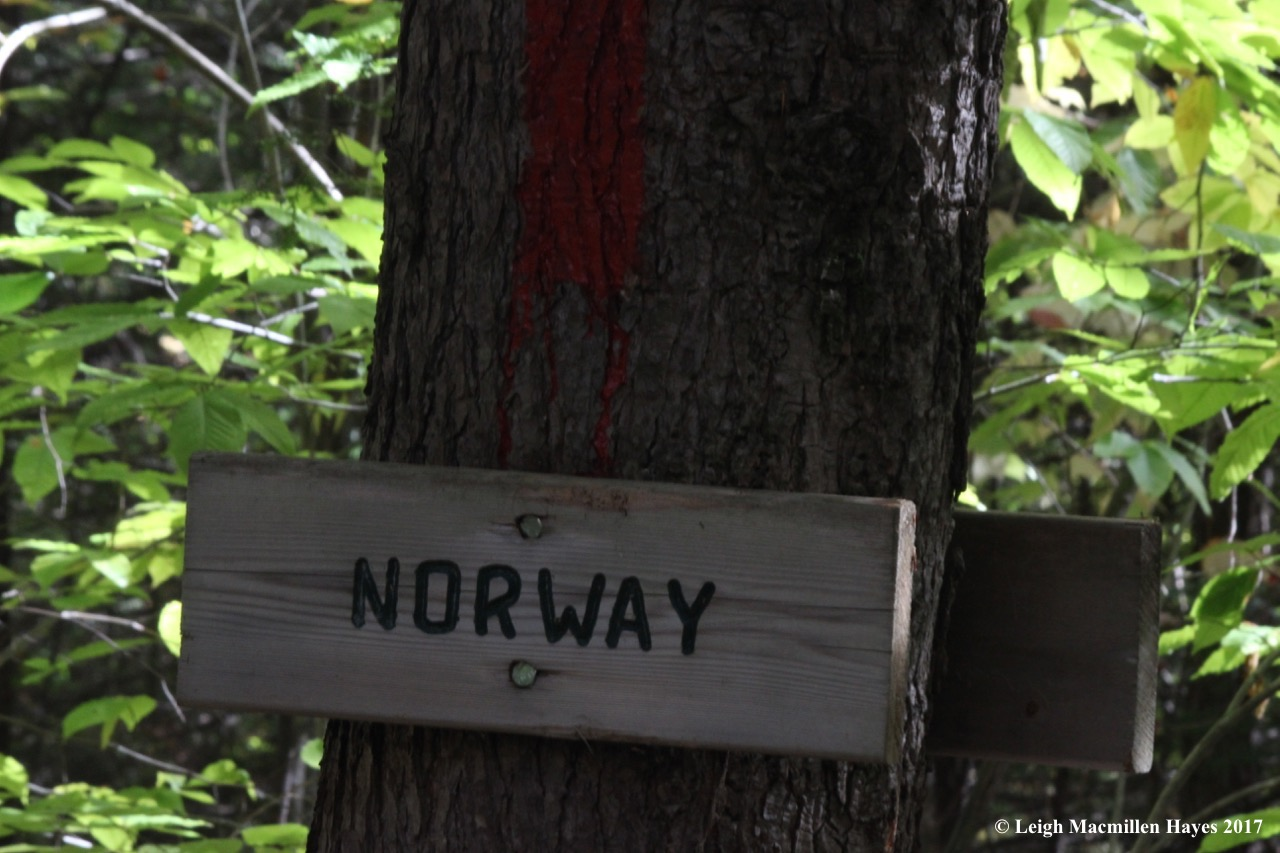 s-Norway sign at Speck Ponds