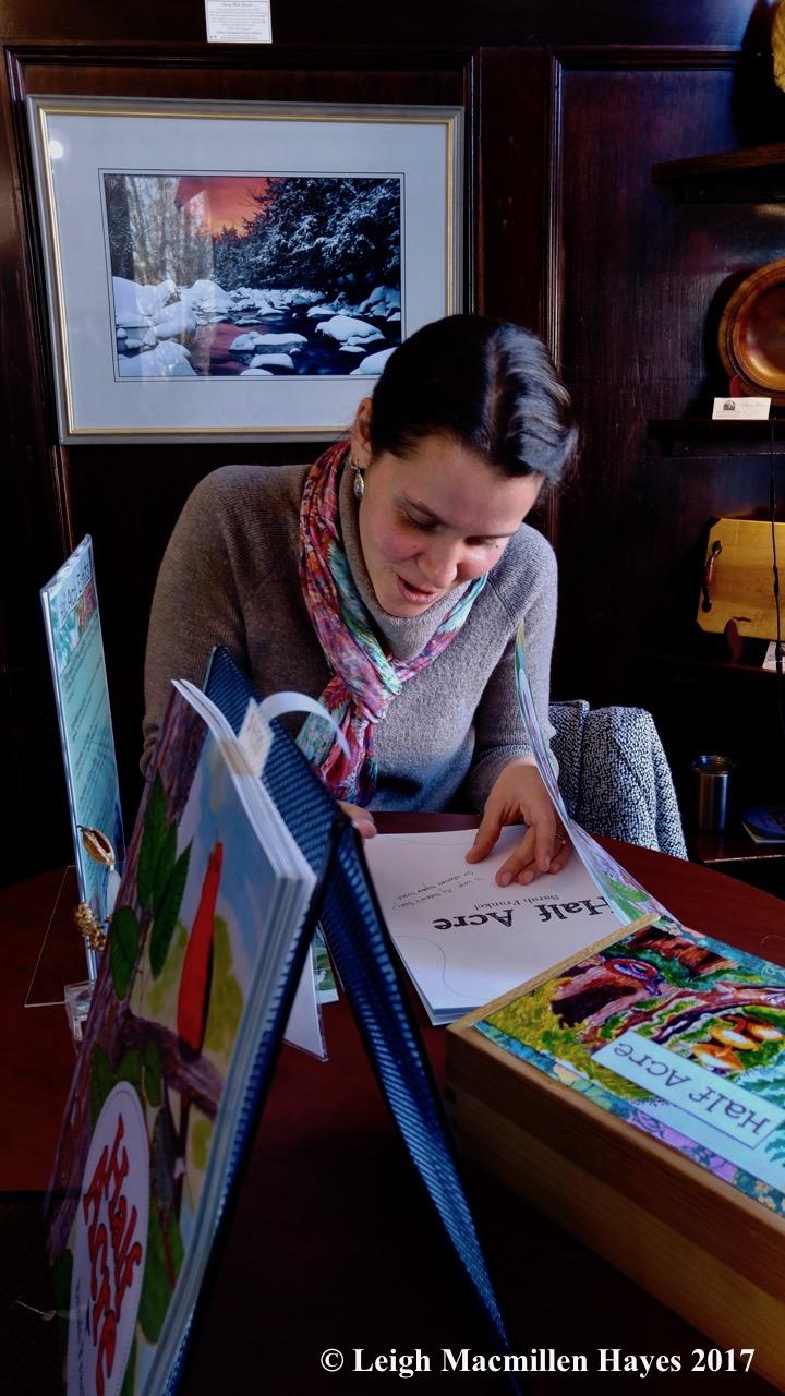 w-Sarah signing my book