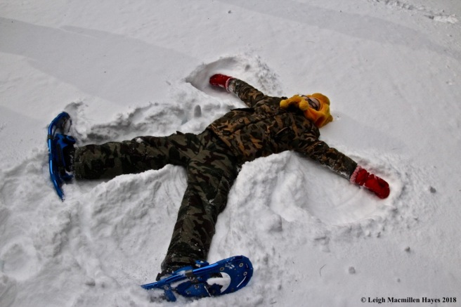 s5-creating a snow angel
