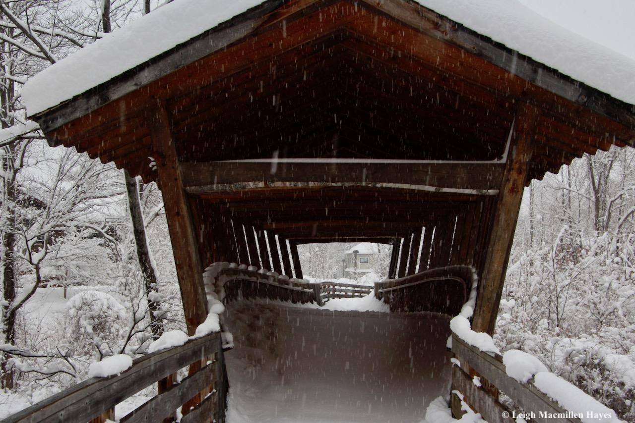 p-snow on bridge