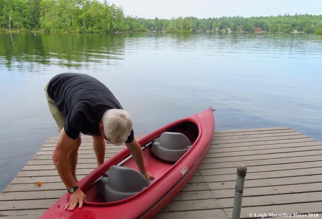 1-prepping the kayak
