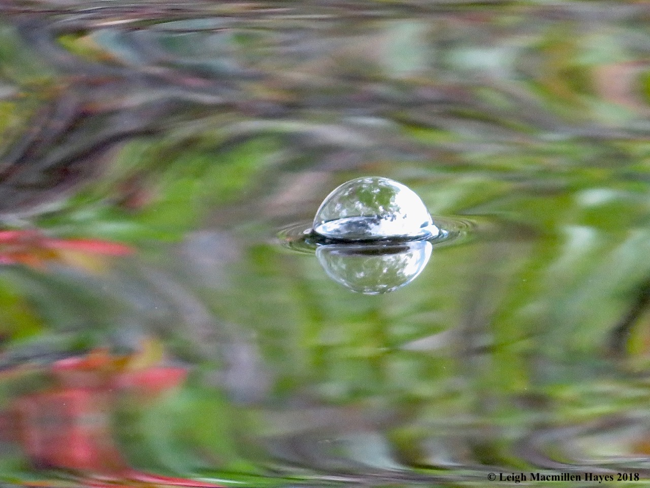 15-bubble on water
