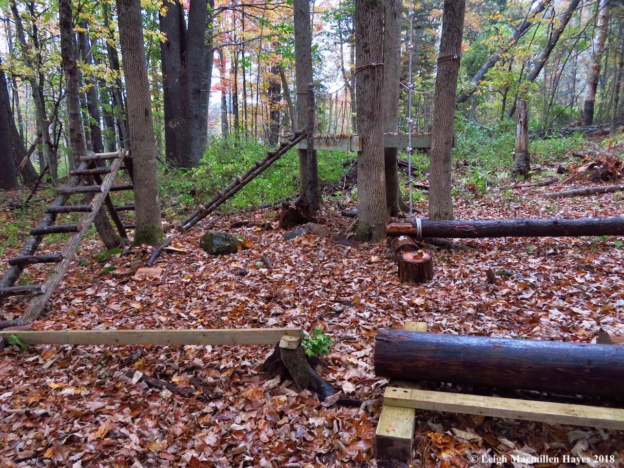 32-rope climbing, log rolling