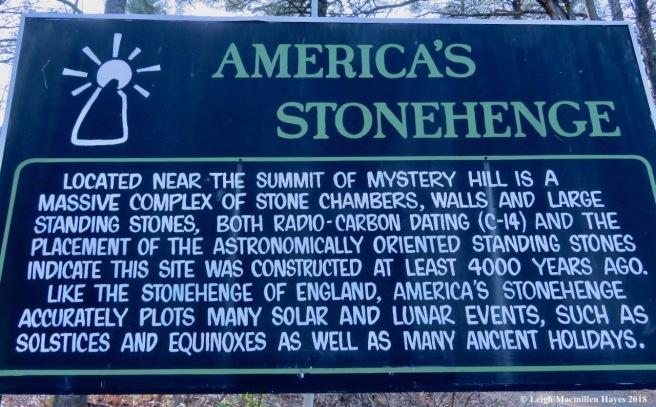 0-America's Stonehenge sign